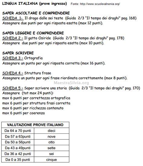 Prove Di Ingresso Scuola Primaria by Prove D Ingresso Classe Terza Griglia Valutazione Italiano