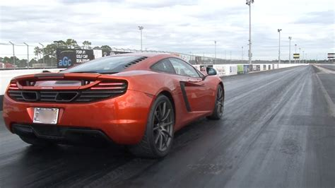 Mp4 12c 0 60 by Stock 2012 Mclaren Mp4 12c 1 4 Mile Drag Racing Timeslip