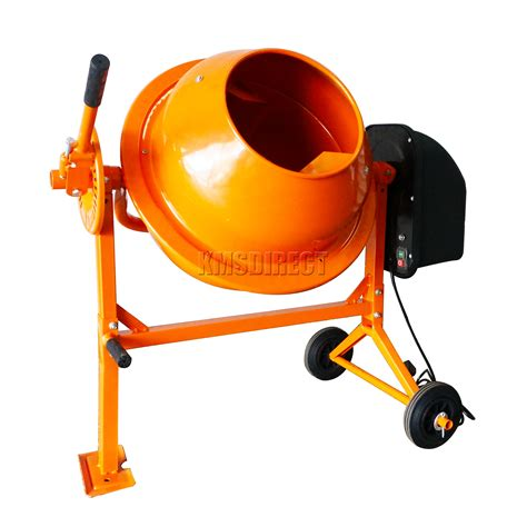 cement mixer foxhunter 250w electric concrete cement mixer mortar plaster machine 70l drum ebay