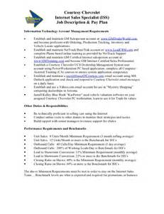 resume car salesman description car dealer description exle