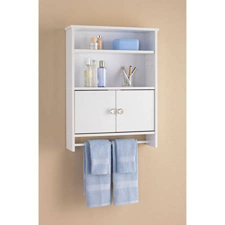 Bathroom Wall Cupboards by Mainstays 2 Door Bathroom Wall Cabinet White Walmart