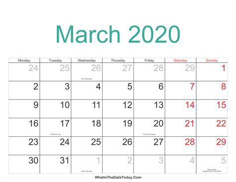 march calendar printable holidays whatisthedatetodaycom