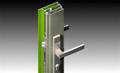 Lock Icon Door Hinged Head Locking Handle