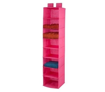Pink 8shelf Hanging Organizer