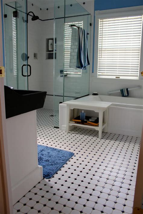 bathroom tile ideas black and white 25 wonderful large glass bathroom tiles