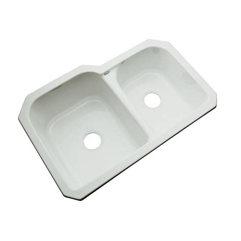 undermount kitchen sink with faucet holes thermocast cambridge undermount acrylic 33 in 0 9539