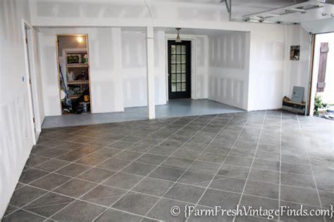 How to Pimp Your Garage Floor {On a Budget}   Farm Fresh