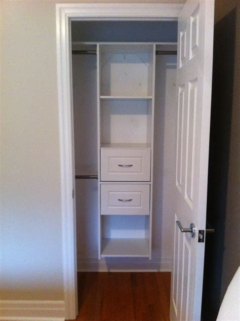 Wardrobe Closet For Small Spaces by Making Over A Very Very Small Closet Small Space Style