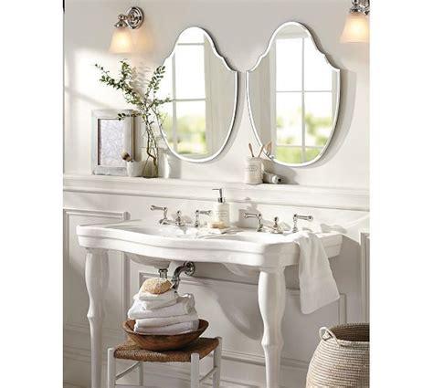 pedestal double sink console parisian pedestal double sink console pottery barn