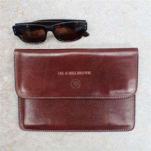mr and mrs personalised leather travel document holder by With personalised travel document holder