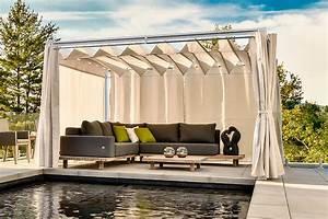 Ensemble Et Toit : pergola r tractable avec rideau ensemble 2 boutique ~ Dode.kayakingforconservation.com Idées de Décoration