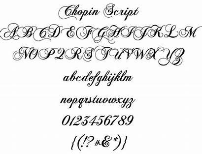Fonts Alphabet Template Cursive Script Chopin Musink