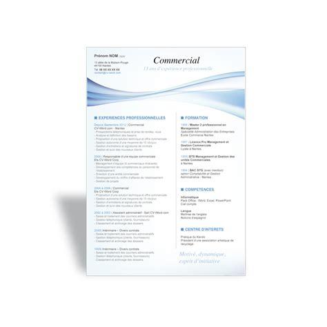Modele Cv Commercial Word by T 233 L 233 Charger Le Mod 232 Le Cv Word Original Commercial