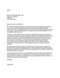 Pe Teacher Cover Letter