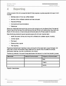 verification and validation plan template With software validation plan template