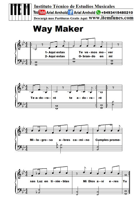 way maker sinach partitura gratis free sheet music pdf