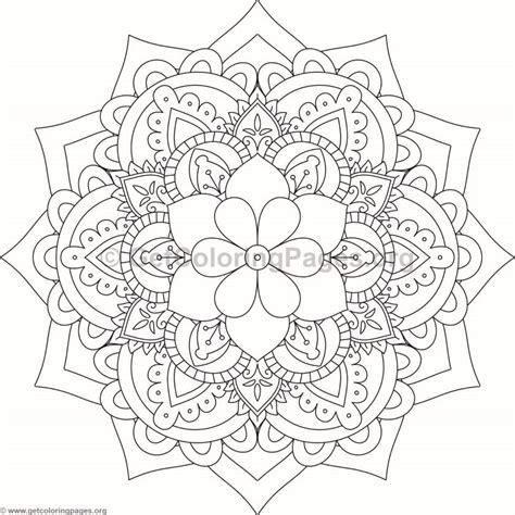 flower mandala coloring pages  getcoloringpagesorg