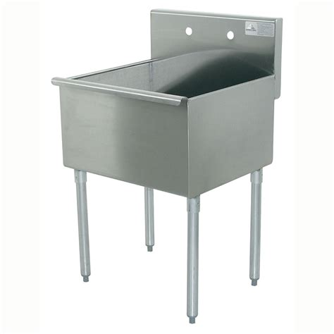 14 inch deep kitchen sink advance tabco 4 1 24 24 quot 1 compartment sink w 24 quot l x 21 quot w