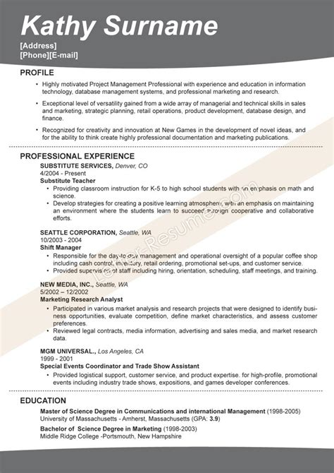 effective resume sles berathen