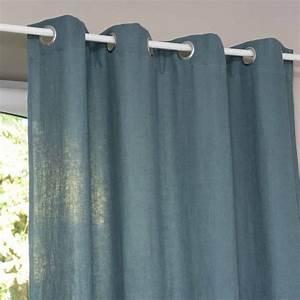 Rideau Bleu Pétrole : rideau illets en lin lav bleu p trole l 39 unit 130x300 en 2019 id es pour la maison ~ Farleysfitness.com Idées de Décoration