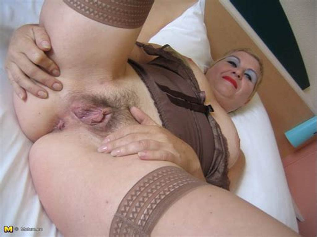 #Short #Haired #Blonde #Mature #In #Nylon #Stockings #Fucks