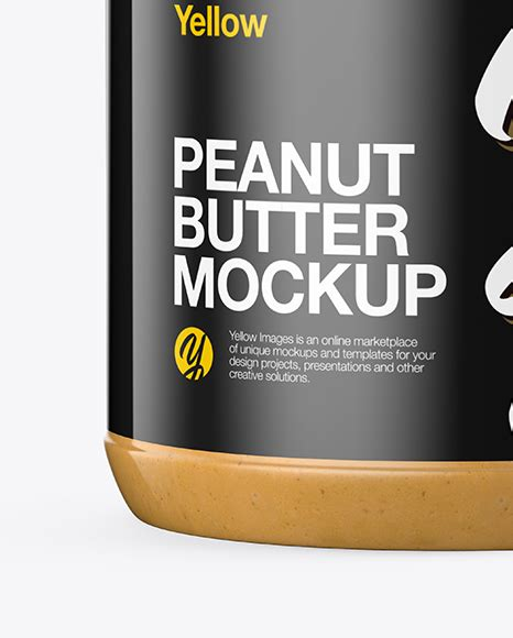 Exclusive special premium mockup that you won't ever find on our blog·. Peanut Butter Jar Mockup in Jar Mockups on Yellow Images ...