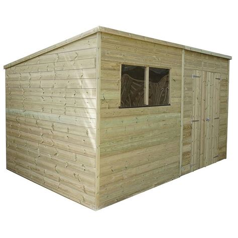 Pressure Treated Shiplap - 12 x 6 warwick shiplap pressure treated pent shed shedsfirst