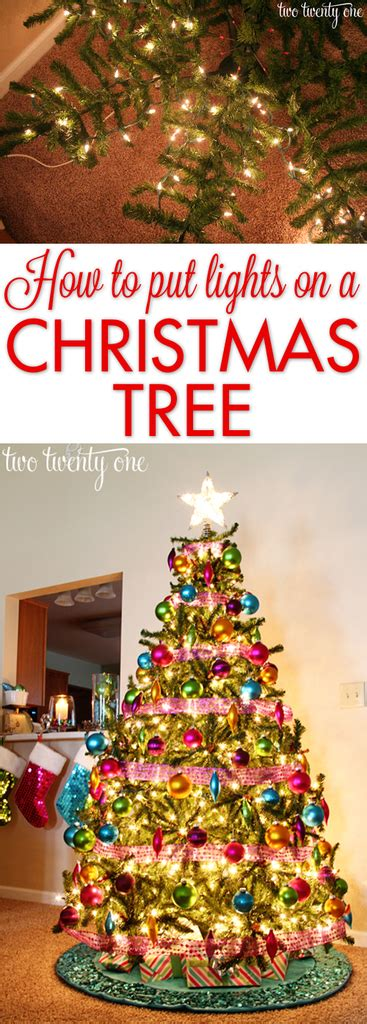 how to put lights on a tree for beginner how to put lights on a tree two twenty one