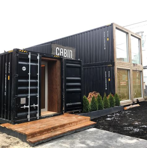 shipping container house dwell boxes photo of the week shipping container structure in toronto Hightree