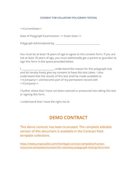 sle format of permission letter polygraph consent consent for voluntary polygraph testing form 15062