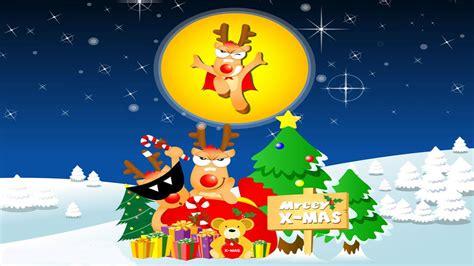 funny christmas cartoon  widescreen wallpaper