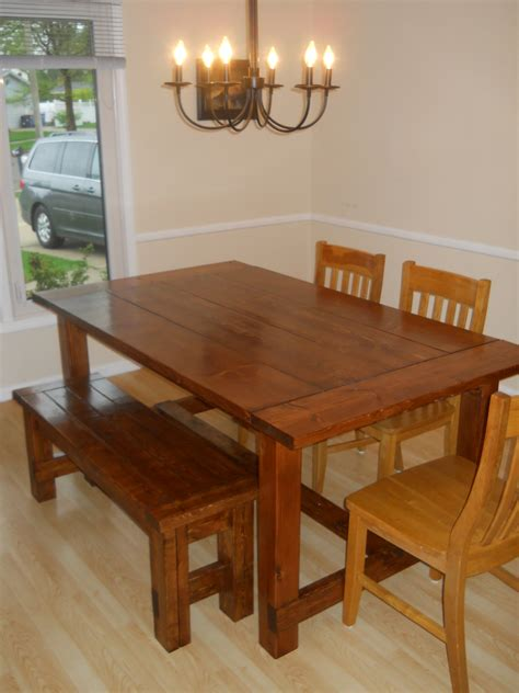 Ana White  Farm House Dining Room Table (modified With