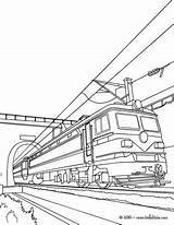Train Coloring Electric Coloriage Tunnel Ausmalen Zum Colorear Hellokids Locomotora Imprimer Dessin Dibujos Electrica Trenes Colorare Disegni Trains Malvorlagen Dampflokomotive sketch template