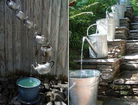diy water fall diy waterfall fountain garden pinterest