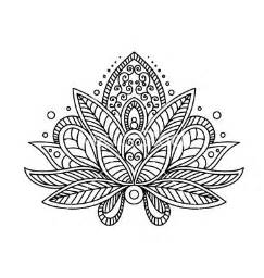 Lotus Flower Henna Tattoo Designs