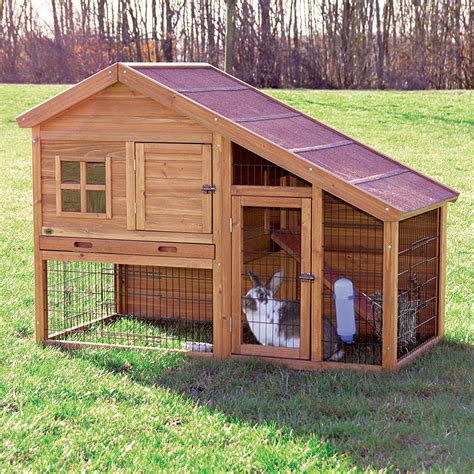 trixie rabbit hutch with a view rabbit cages hutches