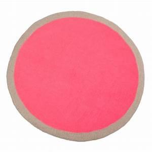 muskhane tapis rond lumbini 120 cm ultra rose tapis With tapis rond rose