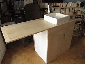 Meuble Sous Plan De Travail : meuble sous vasque salle de bain wb r alisations ~ Teatrodelosmanantiales.com Idées de Décoration
