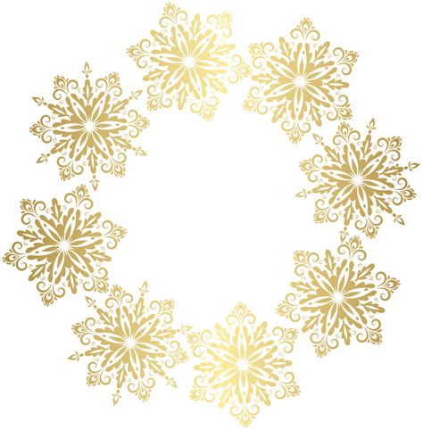 Transparent Background Gold Snowflake Png by Gold Snowflakes Border Transparent Image Gallery