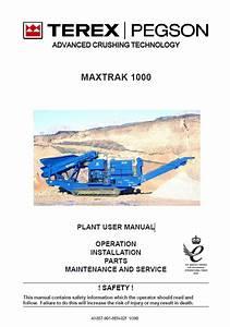 Terex Maxtrak 1000 Conecrusher Operation  U0026 Maintenance Pdf