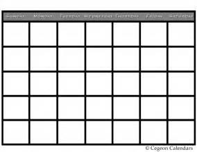 Large Blank Printable Calendars
