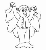 Vampire Coloring Pages Halloween Sheets Sheet Printable Boo sketch template