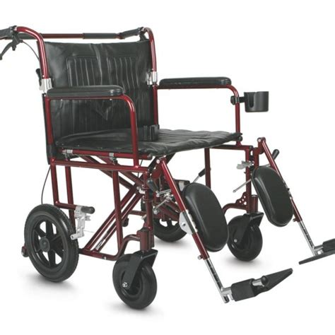 bariatric transport chair red careway wellness center