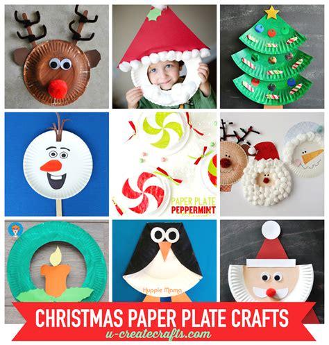 christmas craft activities paper plate crafts u create