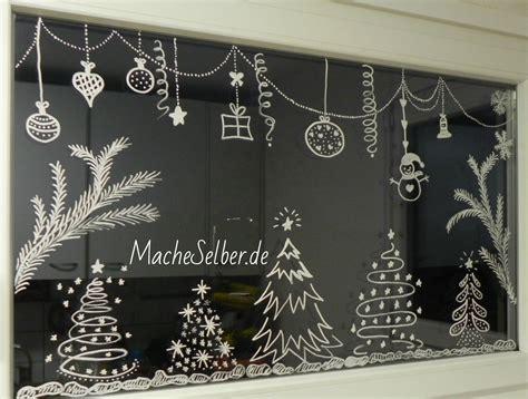 Weihnachtsdeko Fenster Weiß by Mache Selber