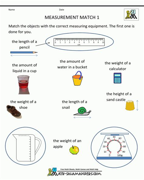 They each turn over the top card on their stack at once; Free Printable Math Worksheets For 2nd Grade Measurement ...