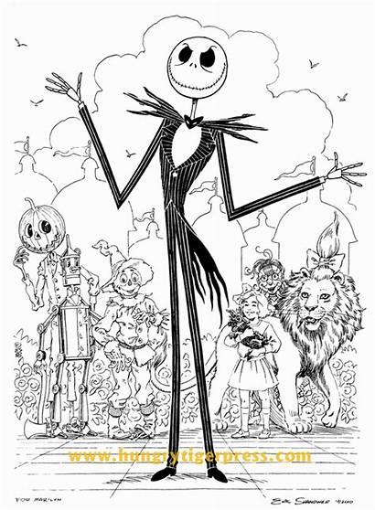 Skellington Jack Oz Drawing Sally Scraps Nightmare
