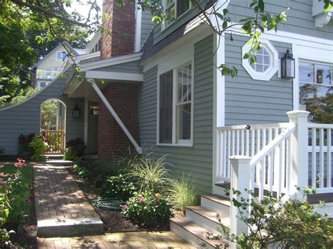 gray blue paint colors exterior style with white
