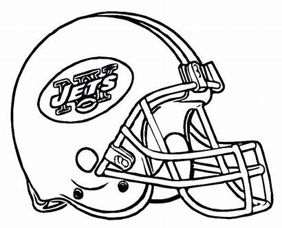 Coloring Football Helmet Pages College Steelers Drawing