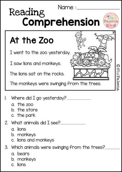 reading comprehension set   images reading